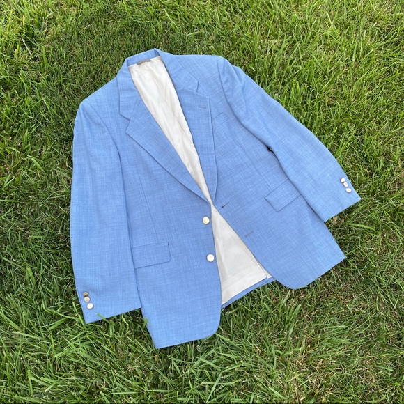 Christian Dior blue oversized boy blazer md lg